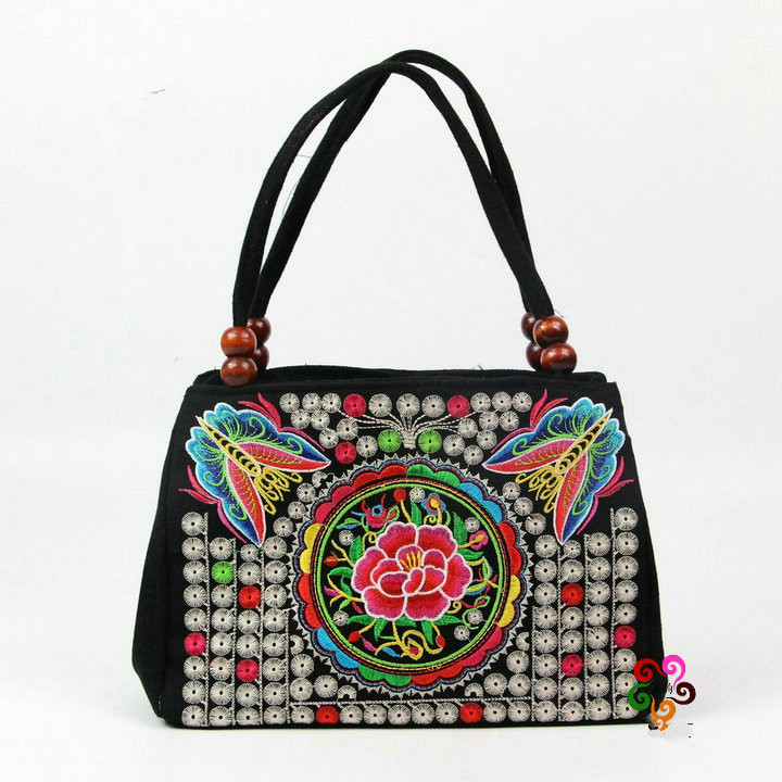 New Coming Multil Vintage Hmong Tribal Ethnic Top Handle Bags Hot Cute Handbags Women Bag Linen Embroidery Tapestry In From Luggage
