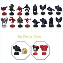 8pieces Batman Spider Man Hero Cartoon Mini PVC Standing Dolls Accessories Home