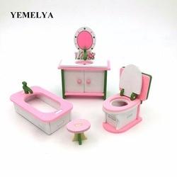 Simulazione del tavolo da cucina sopra la casa di giocattoli casa di bambola mobili in legno set di giocattoli