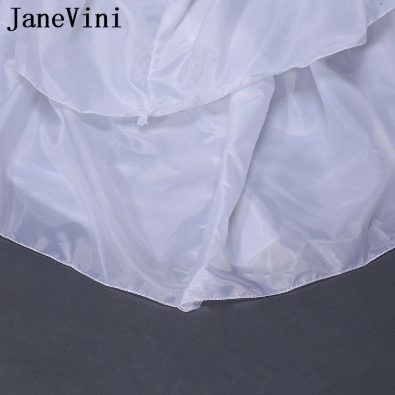 Купить с кэшбэком JaneVini Adult A Line Petticoat White Floor Length Underskirts Wedding Dresses Jupon Lolita 2 Hoops 3 Layers Wedding Petty Coat