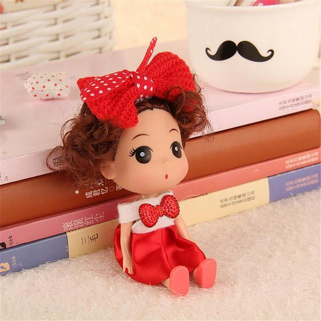 Kawaii 12cm Confused Doll Wedding Dolls Vinyl Toys For Girls Kids Baby Doll Creative Toys For Kids Party Birthday Christmas Gift