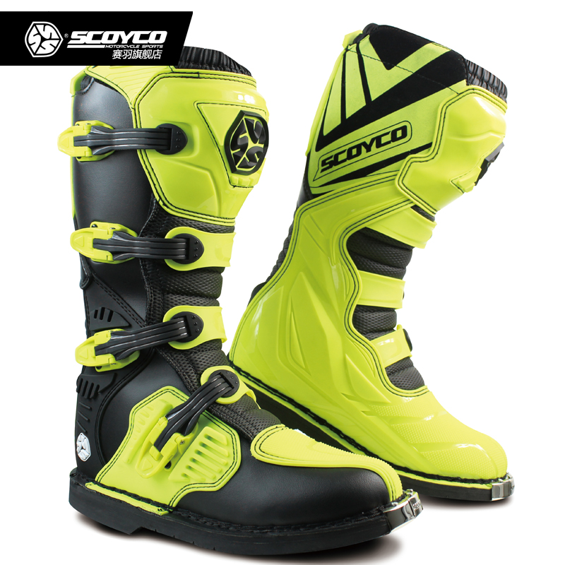 2018 new SCOYCO MBM001 Off-road racing boots men motorcycle boots Motocross riding long Motorbike Boots Botas Moto