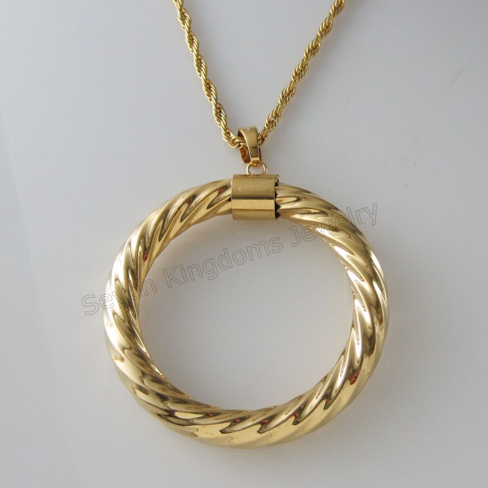 necklace en rotated very yellow width cord chain band rope good shape fancy lot view gold form