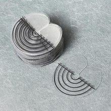 50 шт. круглые теплозащитные щиты Теплоизоляционный лист протектор щит шкала отметка кончик Кератин наращивание волос инструмент для укладки