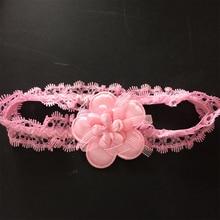 1 Pcs/lot Fashion Ribbon Flower Elastic Girl Headbands Chidren Hairband Hair Accessories