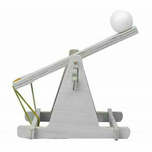 Children Scientific Experiment DIY Trebuchet Toy Model Wooden Catapult Kits Sets