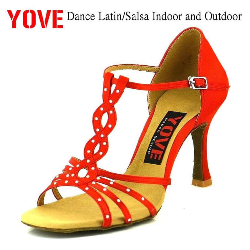 YOVE Style LD-3021-1 Dansschoenen Bachata / Salsa Indoor en Outdoor dansschoenen voor dames