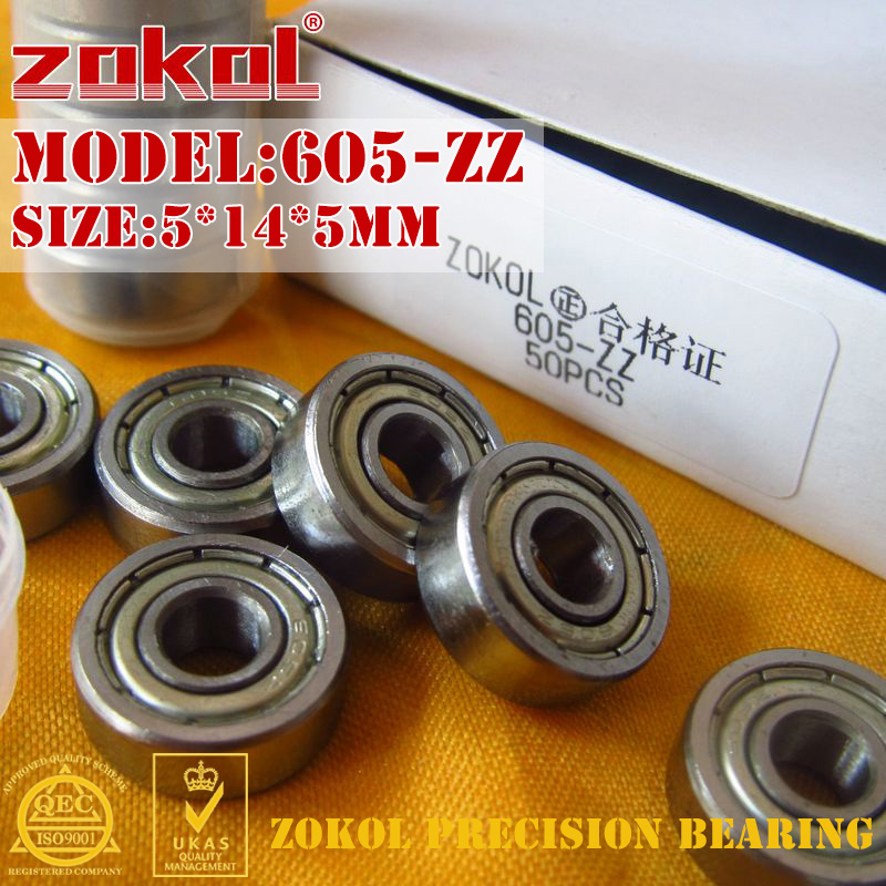 ZOKOL 605 ZZ Z1bearing 605-ZZ 605zz Miniature  Deep Groove Ball Bearing 5*14*5mm