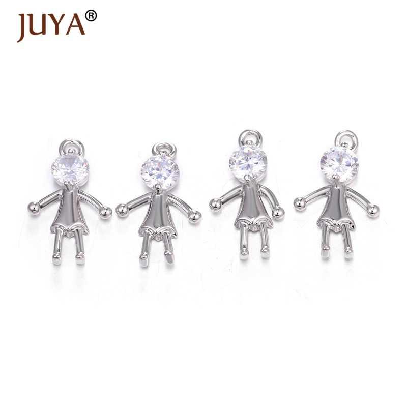 Креативная Подвеска из циркония для девочек, сделай сам, браслет, ожерелье, серьги, изысканная платина, Детские амулеты, аксессуары для изготовления ювелирных изделий