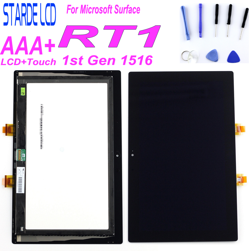 STARDE LCD For Microsoft Surface 1 1st Gen RT1 Windows RT 1516 LCD Display Touch Screen Digitizer Assembly LTL106AL01-001Parts