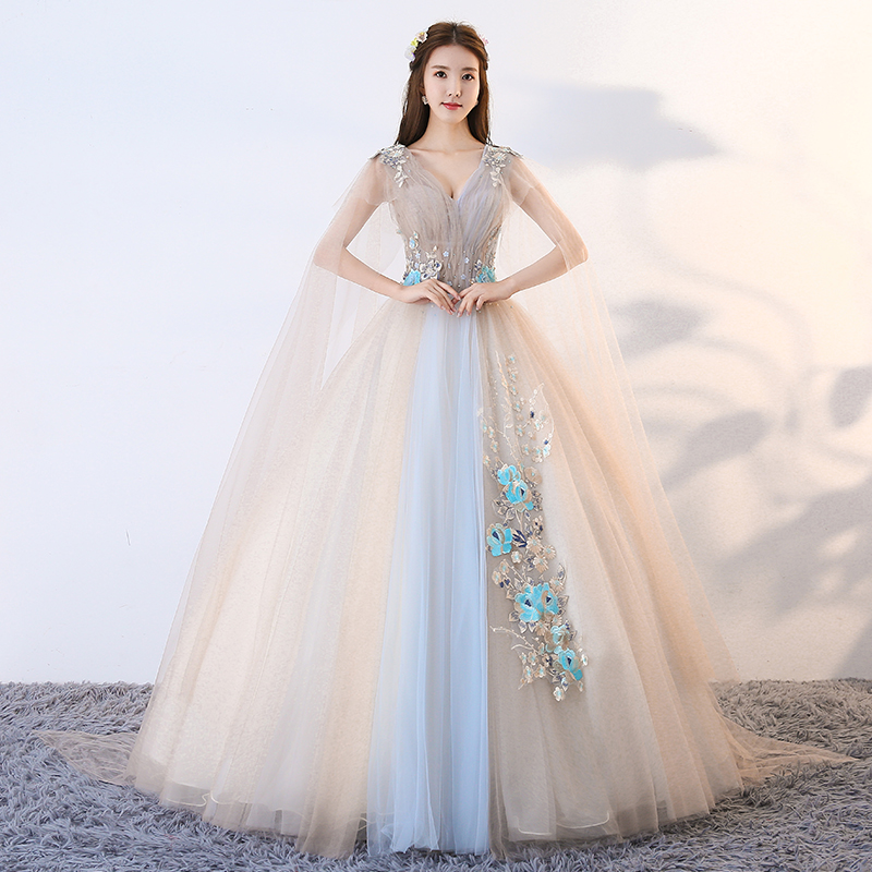 ec51aeeeb3c Silver Sleeveless Ball Gown Quinceanera Dresses Tulle With Flowers ...