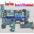 100% original versión europa placa de desbloqueo para samsung note 2 n7100 mainboard con chips, 100% buen funcionamiento, envío libre