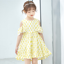 цена на Summer Girl Dress Kids Children Dress Girls Sleeveless dot Dress Soft Cotton Summer Princess Dresses Baby Girls Clothes 2019 New