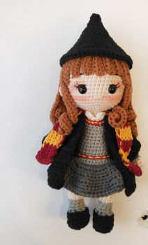 "Celeste, the friendly Voodoo-Doll"" Amigurumi Crochet Pattern 