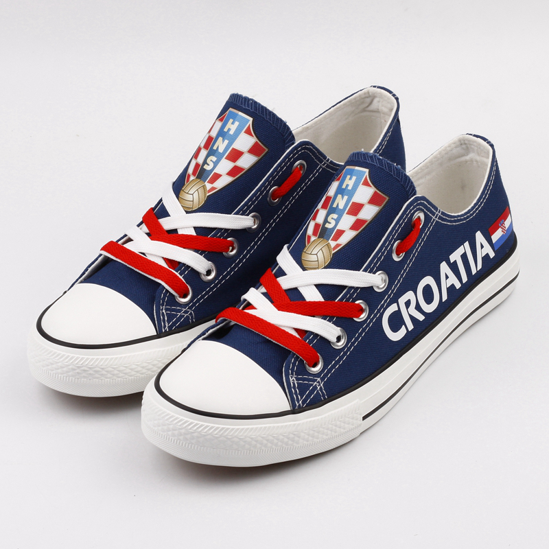 E-LOV Unique Design Hrvatska Croats Canvas Shoes Low Top Outdoor Leisure Shoe Custom Croatia Print Croatian Casual Flats e lov fashion luminous constellation canvas shoes low top sagittarius horoscope graffiti casual walking shoes for women