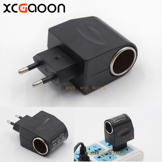 Xcgaoon Ac To Dc Adapter Converter Car Charger Input 90v 240v Output 12v 500ma Europe