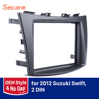 Seicane Double Din refitting DVD Player Cover Panel Kit Car Radio Fascia Autostereo Frame for Suzuki Swift Dash CD Trim Bezel