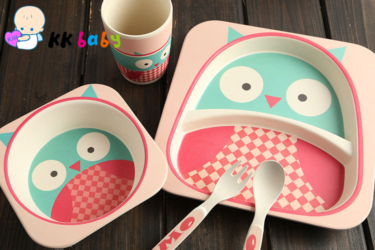 Safe Heathy Yookidoo Childrenu0027s Tableware Set Baby Feeding Dinnerware Eco Friendly Bamboo Fibre Baby Bowl+Plate+Cup+Spoon-in Dishes from Mother u0026 Kids on ... & Safe Heathy Yookidoo Childrenu0027s Tableware Set Baby Feeding ...