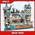 3635 PCS Ninja Città Banchine Porto Barca Casa Del Vecchio Mondo Sala Da Tè 10941 Blocchi di Costruzione di Modello Giocattoli Mattoni Compatibile con legoingly