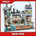 3635 PCS Ninja Stadt Docks Hafen Boot Haus Alten Welt Teestube 10941 Modell Bausteine Spielzeug Bricks Kompatibel mit legoingly