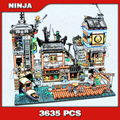3635 piezas de la ciudad de Ninja muelle de la casa del barco del viejo mundo Tearoom 10941 modelo bloques de construcción juguetes ladrillos compatibles con legoingly