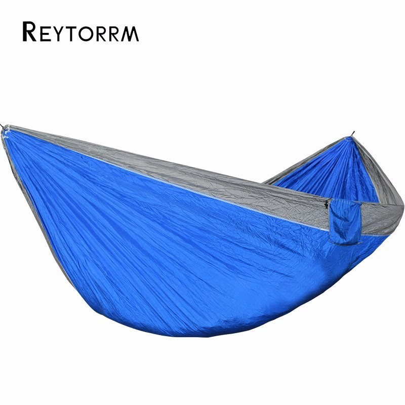 King Size 2 Person Hammock Outdoor Camping Leisure Hanging Parachute Fabric Hamak Super Size Durable Survival Hamac 300*175cm 2 3 person king size hammock outdoor survival camping hamak leisure patio garden terrace double hamaca 300 200cm 118 78 inch