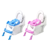 Baby Toilet Seat Folding Toilet Trainer Seat Chair Step with Adjustable Ladder