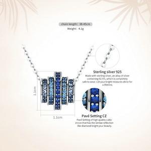 Image 3 - BAMOER otantik % 100% 925 gümüş kademeli değişim yuvarlak tekerlek mavi melodi kolye kolye kadınlar için güzel takı hediye
