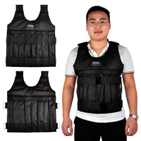 SUTEN 44bls Adjustable Weighted Vests With Shoulder Pads Strength Training Weight Jacket (Empty) Exercise Boxing Sand Clothing