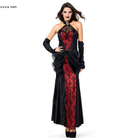 Sexy Woman Vampire Cosplay Halloween Spider Queen Costume Carnival Purim stage play Masquerade Nightclub Bar Party evening dress