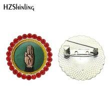 2017 Nuevo broche de niña exploradora broche Cadette Merit insignia Pin broches de cristal broche de pecho regalos niños joyas redondas
