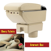Car Armrest Box Central Store Content Storage Box With Cup Holder Ashtray Accessories For Chery A13