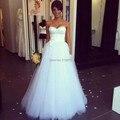Бесплатная Доставка На Заказ новый дизайн возлюбленной вышитые высокое качество Свадебные платья 2016 новый weding платье