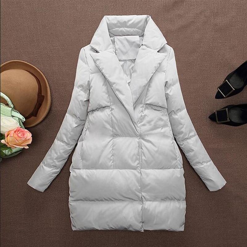 High Quality Winter Jacket Women 2018 New Fashion Down Coat 90% White Duck Down Jackets Women's Down Parkas Loose Plus Size Coat