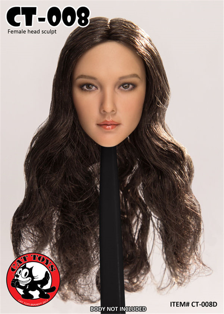 1//6 Cat Toys Asian  women short hair  Head Sculpt  CT008 B F 12/'/' Action Figure