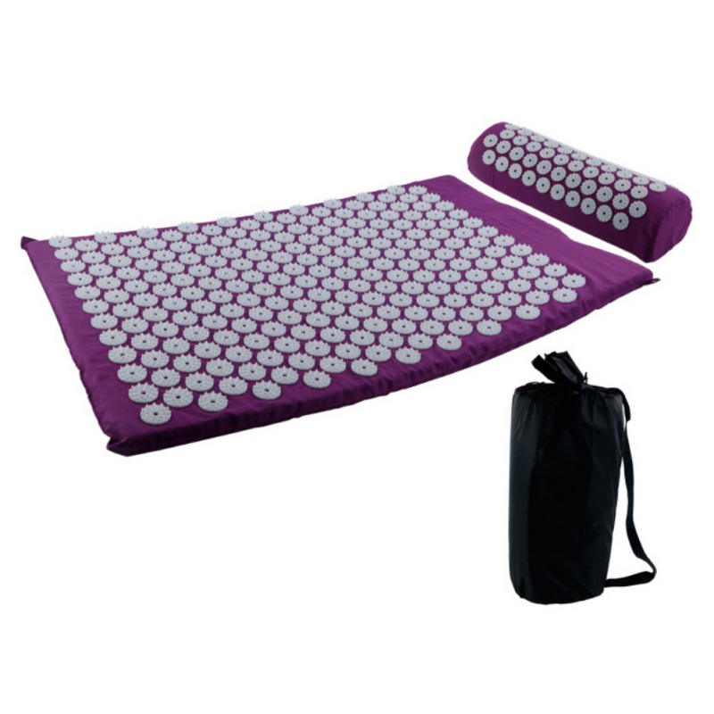 Acupressure massages mat which relieves stress and body pain including back neck and foot 1
