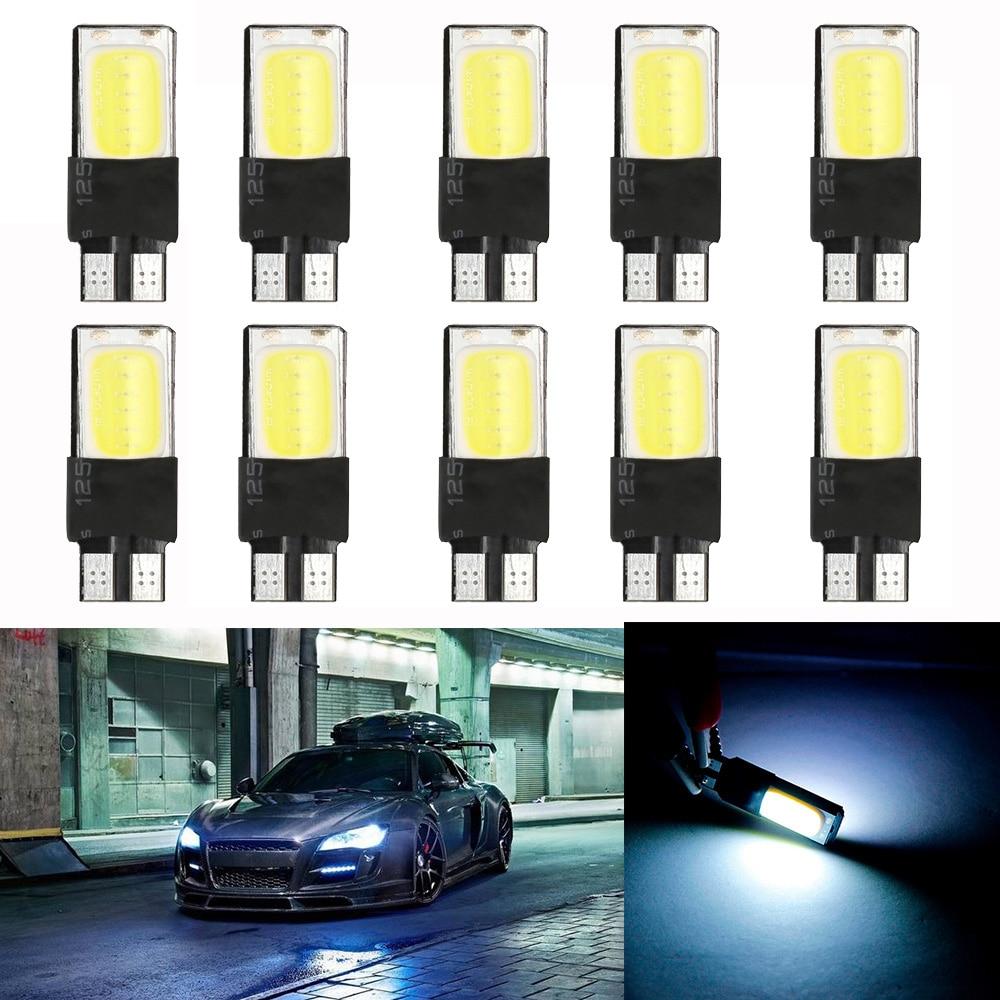 w5w  éclairage lumière feux de plaque auto 2 ampoules à LED blanc pur T10