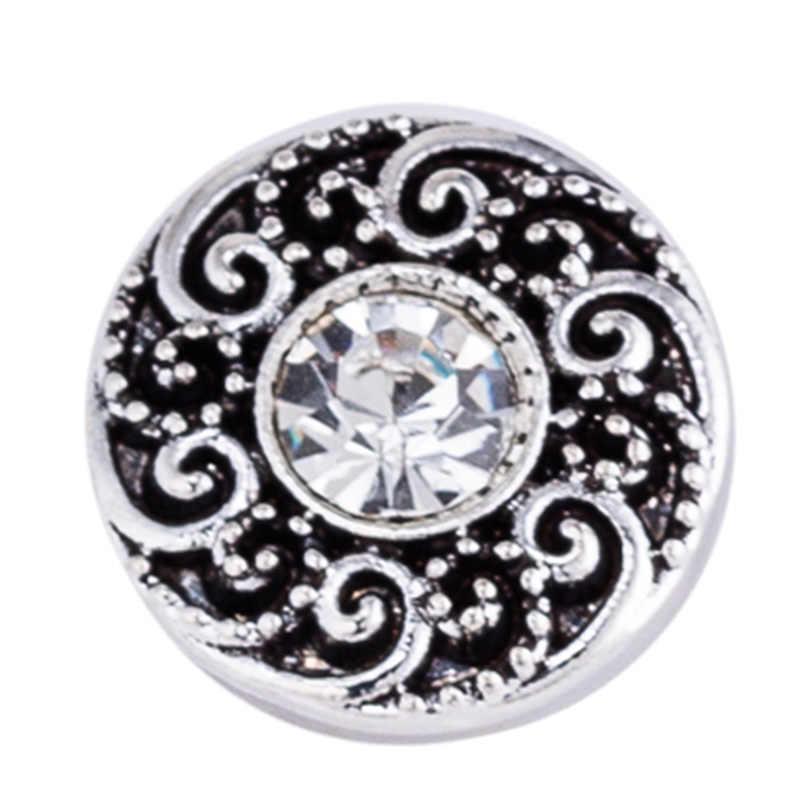 Snap nút 18mm kim loại snaps cho snaps vòng đeo tay phù hợp gừng snaps trang sức pha lê Panda snap TZ9121