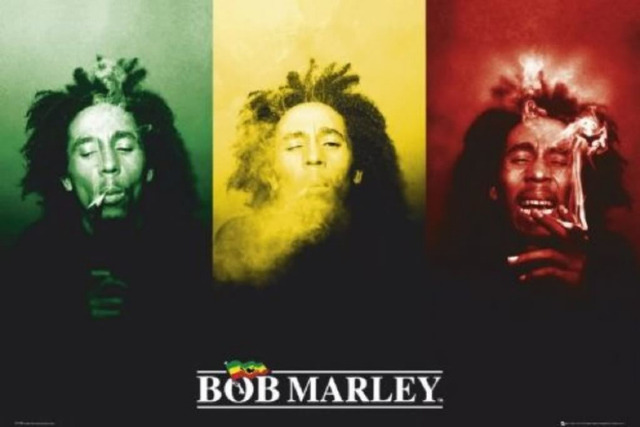 Best Nice Bob Marley (3 Faces, Smoking Print Poster Home Decoration ...