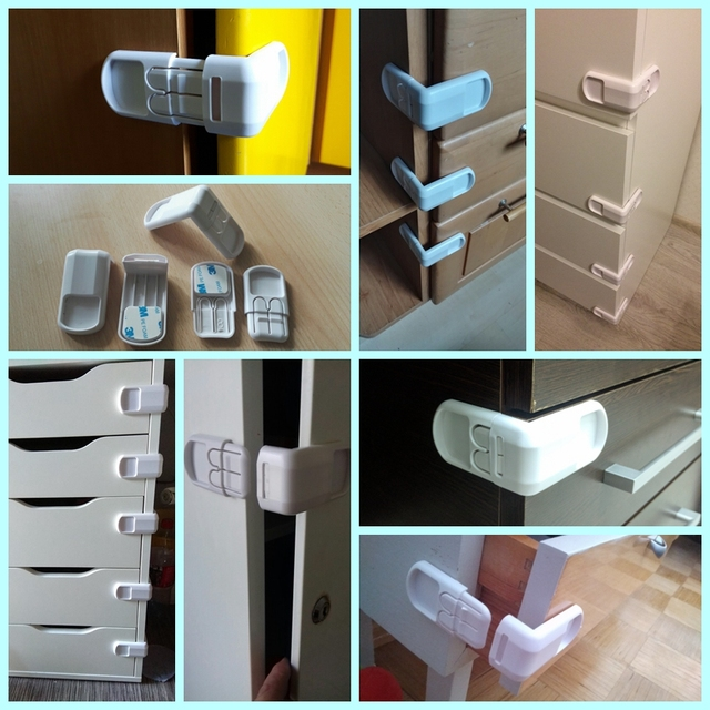 1pc Plastic Baby Safety Protection From Children In Cabinets Boxes Lock Drawer Door Security Product Kids Child Baby Proof Locks 5