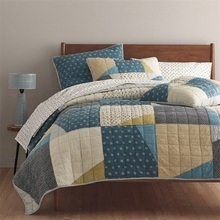 CHAUSUB Handmade Patchwork Quilt Set 3PCS Washed Cotton Quilted Bedspread American Bed Cover Quilts King Size Coverlet