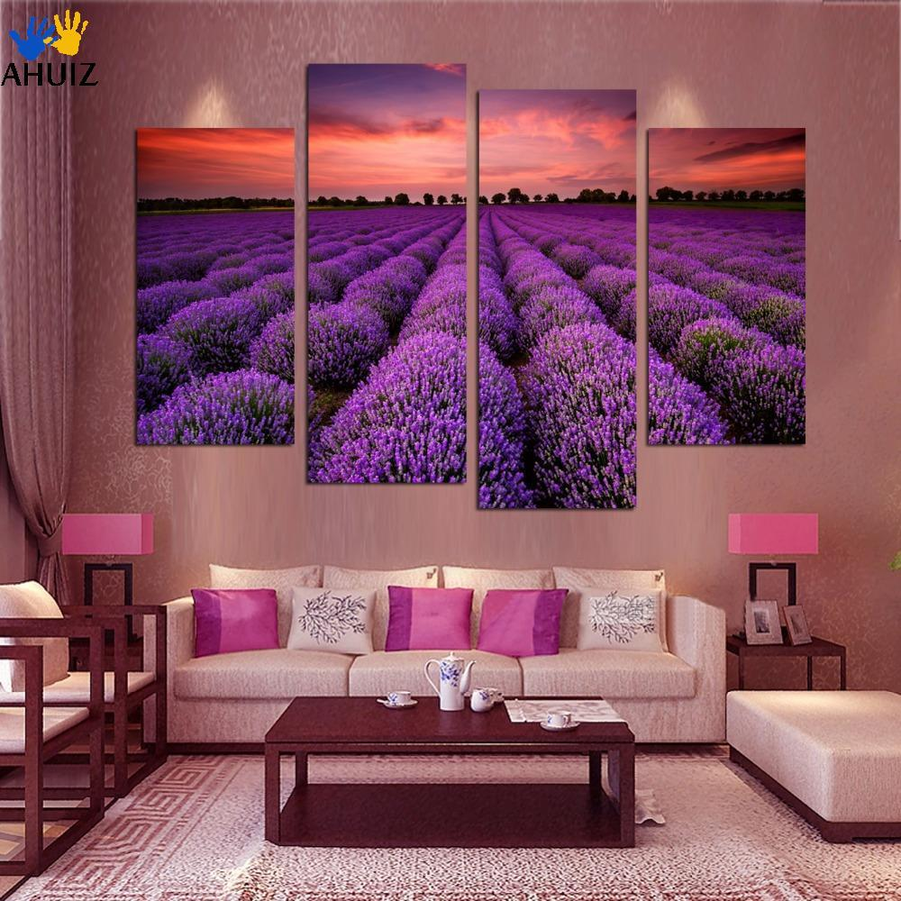 4 piece free shipping modern wall art home decoration for Home decoration pieces