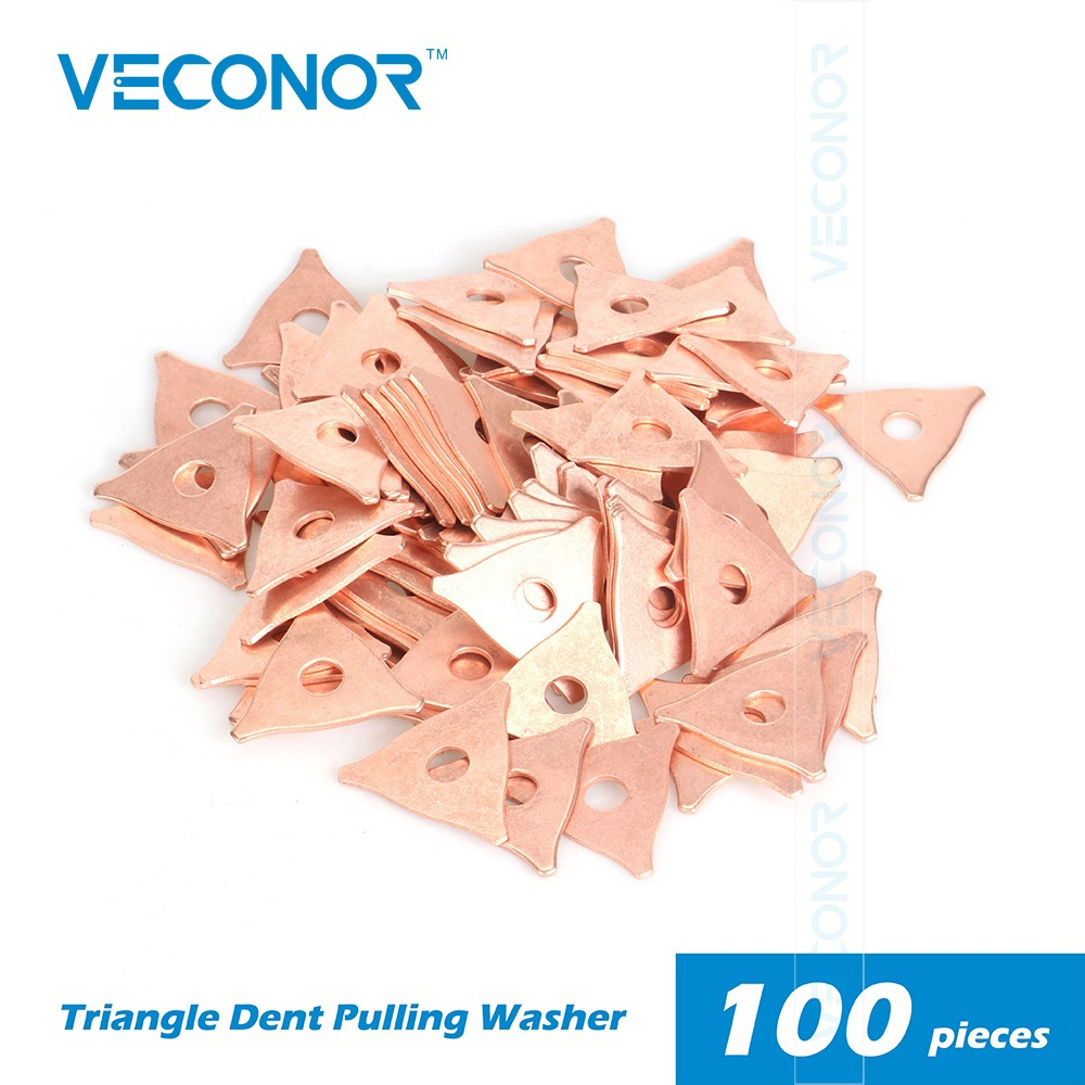 100Pcs Pack Dent Pulling Triangle Washer For Spot Welder Panel Pulling Star Washer Spot Welding Machine Consumables