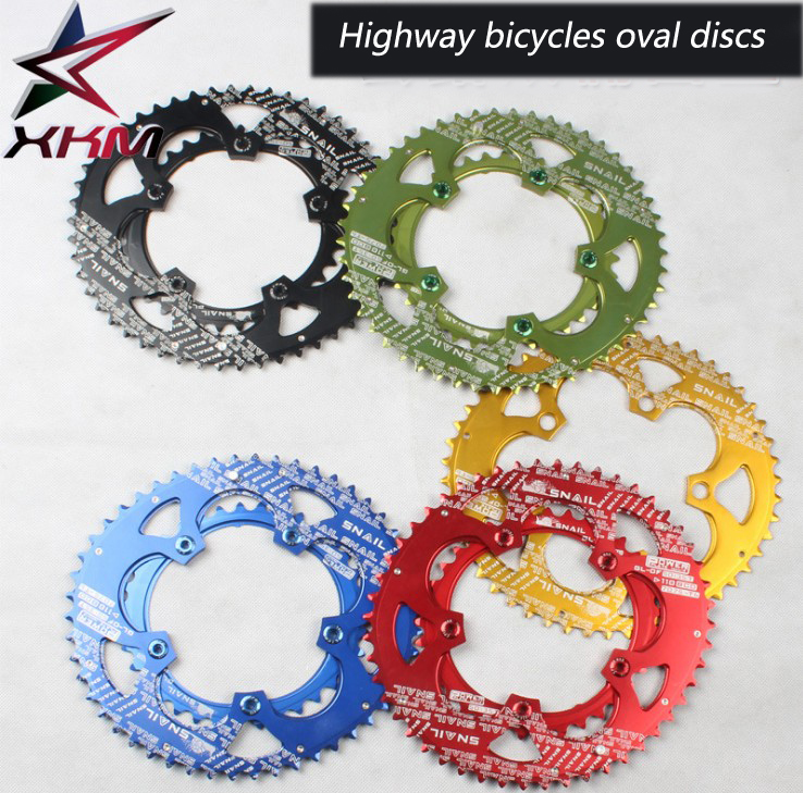 SNAIL oval gear plate Wuzhao highway bicycle folding car double disk power tooth plate ultra-light crank parts 110 BCD автомобильные ароматизаторы golden snail golden snail gs 6703 ароматизатор car vent океан