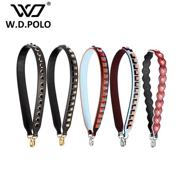 W.D.POLO Strapper you rivet handbags belts women bags strap women bag accessory bags parts Cow leather heart bag belts M2728