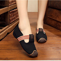New fashion simple solid color embroidered fashion exquisite canvas Casual flats shoes women Comfort ladies walking shoes