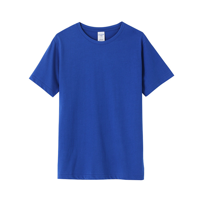 2019 simple solid color T shirt blue black white for man summer shirt