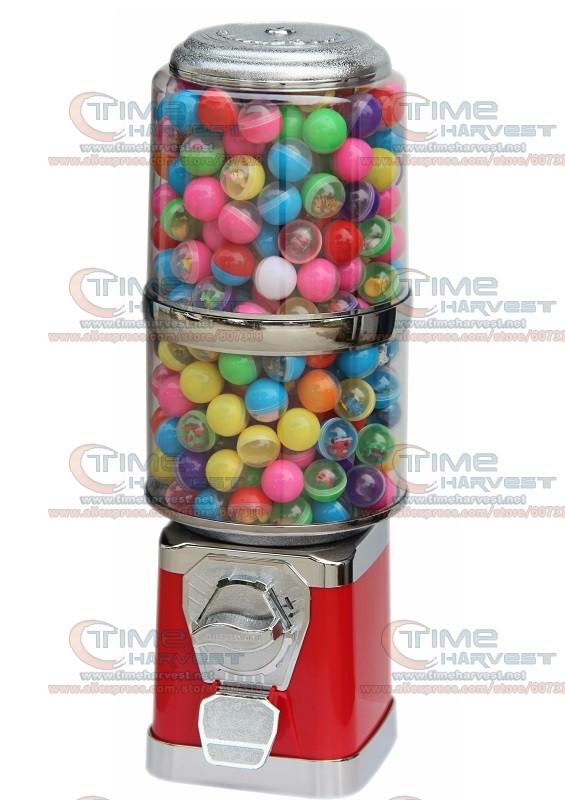 Good Quality Coin Operated Desktop Machine Tabletop Candy Vendor Big Capsule Upright Vending Machine Penny-in-the-slot Vendor good quality coin operated tabletop gumball vending machine desktop capsule vending cabinet toy penny in the slot coin vendor