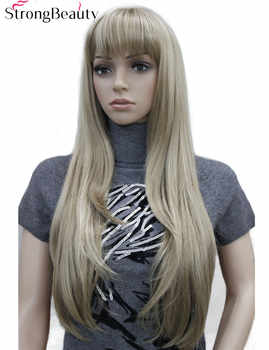 Strong Beauty Synthetic Long Straight Women Wigs Capless Heat Resistant Wig Many Color for Choose - DISCOUNT ITEM  20 OFF Hair Extensions & Wigs