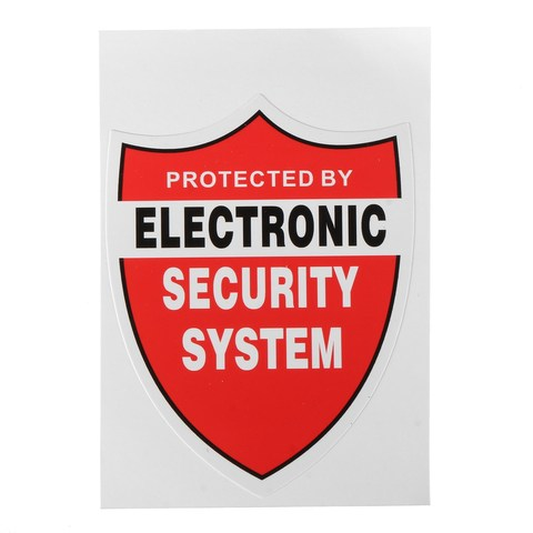 NEW 3 Pcs SECURITY SYSTEM DECALS Sticker Decal Video Warning CCTV Camera Home Alarm Security Multan